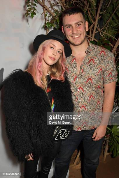 Mary Charteris and whynow Founder Gabriel Jagger attend the launch of new positive media platform 'whynow' at Petersham Nurseries on March 12 2020 in...