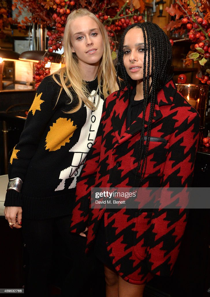 Mary Charteris and Zoe Kravitz attend the Thanksgiving dinner with Coach hosted by Zoe Kravitz and Mary Charteris on November 24, 2014 in London, England.