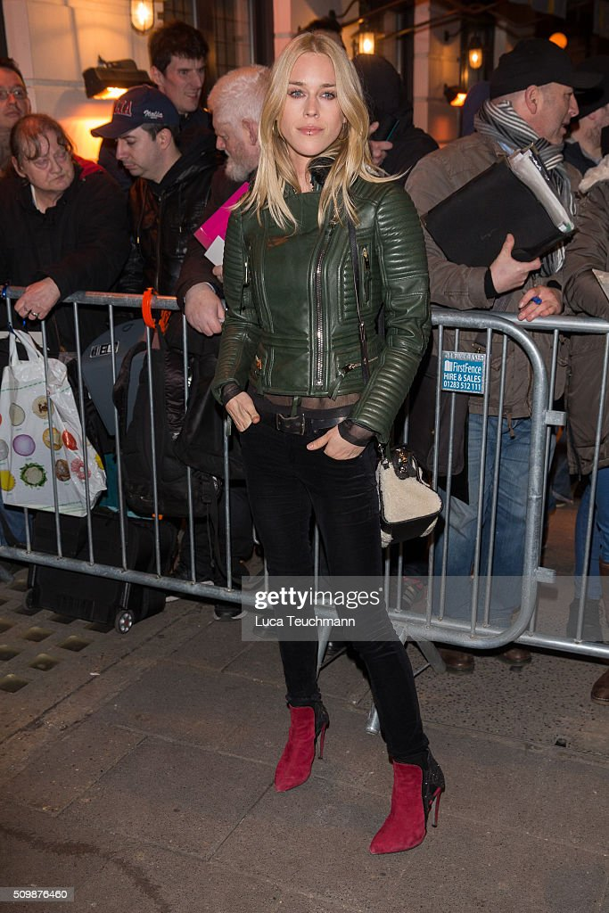 Mary Charteris arrive the Weinsten x Grey Goose Pre BAFTA party at Little House Mayfair on February 12, 2016 in London, England.
