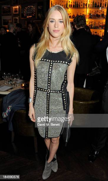 Mary Charteris arrives at the London EDITION and NOWNESS dinner to celebrate ON COLLABORATION on October 14 2013 in London England