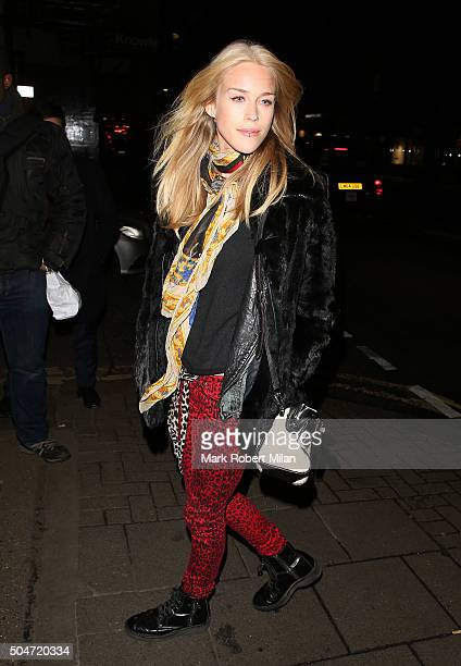 Mary Charteris at Sexy Fish Restaurant on January 12 2016 in London England