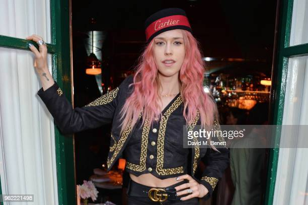 Mary Charteris attends a private dinner hosted by Cartier to celebrate the opening of the British Polo Season at Casa Cruz on May 24 2018 in London...