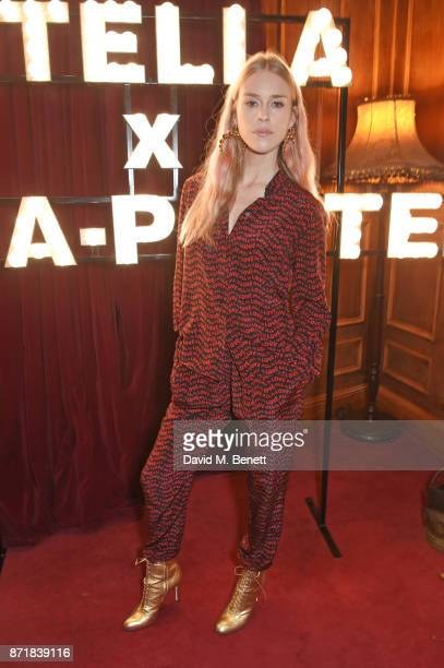 Mary Charteris attends a private dinner hosted by NETAPORTER and Stella McCartney to celebrate the launch of the Stella McCartney x NETAPORTER party...