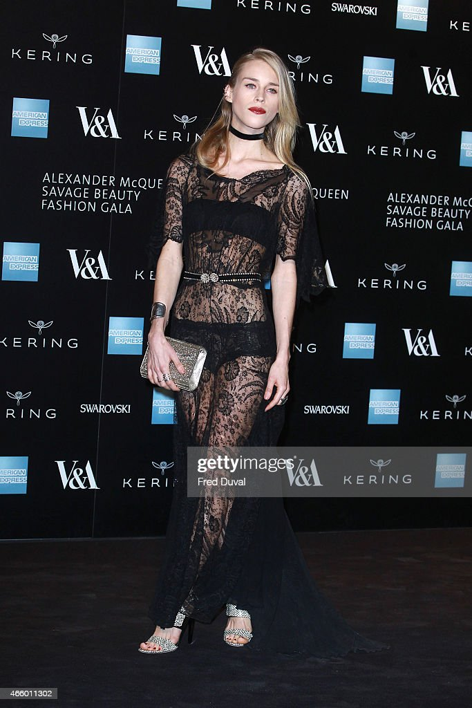 Mary Charteris attends a private view for the 'Alexander McQueen: Savage Beauty' exhibition at Victoria & Albert Museum on March 12, 2015 in London, England.