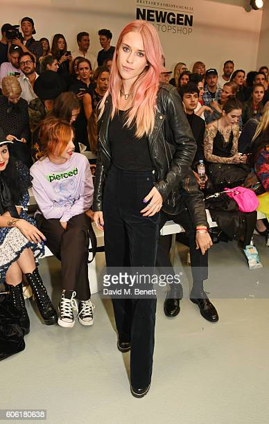 Mary Charteris attends the Ashley Williams runway show during London Fashion Week Spring/Summer collections 2017 on September 16 2016 in London...