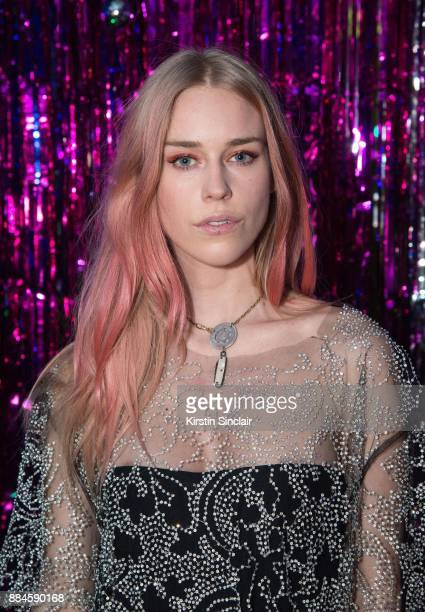 Mary Charteris attends the Burberry x Cara Delevingne Christmas Party on December 2 2017 in London England