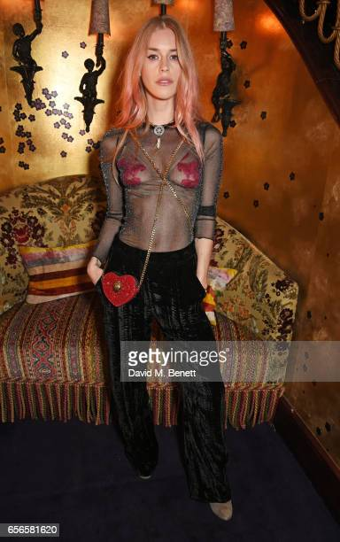 Mary Charteris attends the Edie Campbell and Kurt Geiger Flash dinner at Loulou's on March 22 2017 in London England