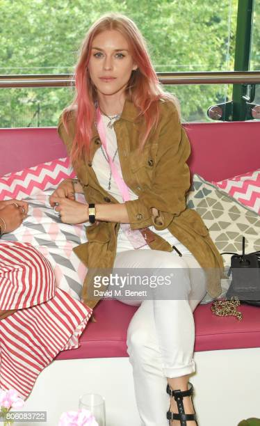 Mary Charteris attends the evian Live Young suite during Wimbledon 2017 at the All England Tennis and Croquet Club on July 3 2017 in London England