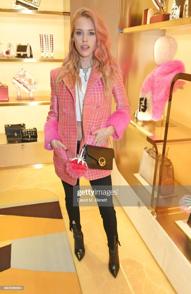 Mary Charteris attends the FENDI Sloane Street boutique opening on December 14, 2017 in London, England.