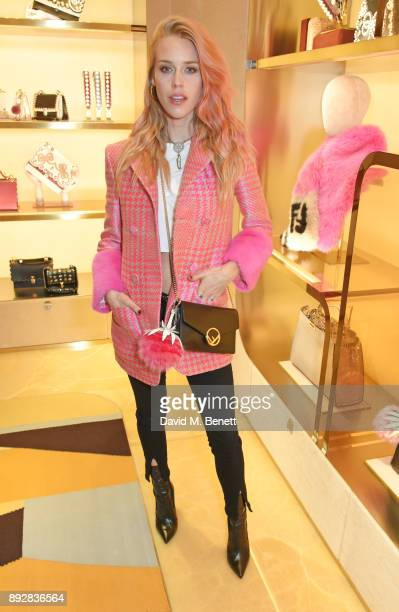 Mary Charteris attends the FENDI Sloane Street boutique opening on December 14 2017 in London England
