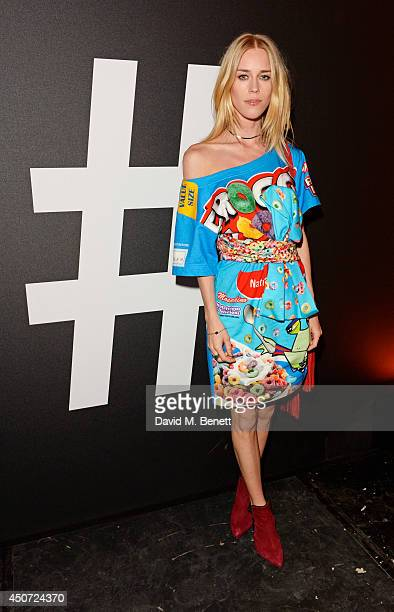 Mary Charteris attends the Harvey Nichols presentation of #BEENTRILL# designer collaboration during London Collections Men at The Vaults on June 16...