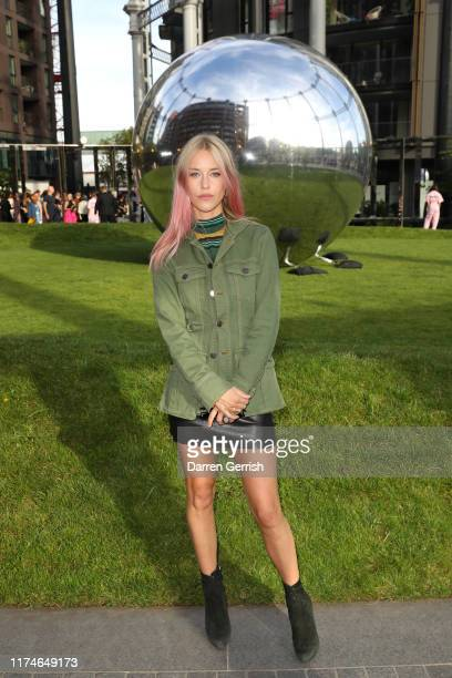Mary Charteris attends the House of Holland show during London Fashion Week September 2019 at Gasholder Park on September 14 2019 in London England