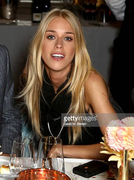 Mary Charteris attends the Moda Operandi Launch Dinner at the Cafe Royal on September 12 2014 in London England