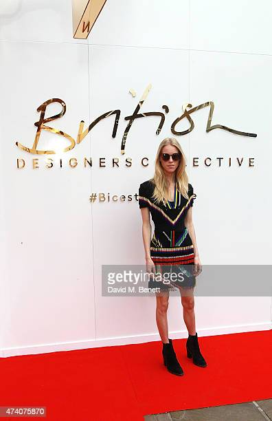 Mary Charteris attends the official launch of the British Designers Collective at Bicester Village on May 20 2015 in Bicester England