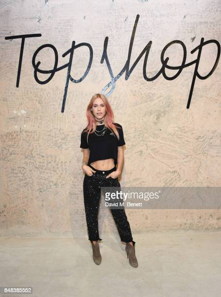 Mary Charteris attends Topshop's London Fashion Week show on September 17 2017 in London England