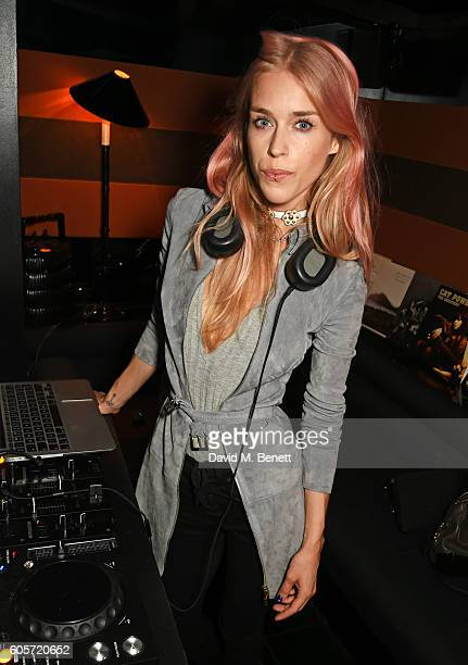 Mary Charteris DJs as Blakes hotel celebrates the launch of Blakes Below a luxury bar and lounge designed by Anouska Hempel on September 14 2016 in...