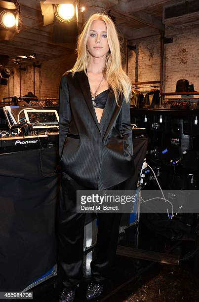 Mary Charteris DJ's at Vogue Fashion's Night Out London 2014 at AllSaints Regent Street on September 23 2014 in London England
