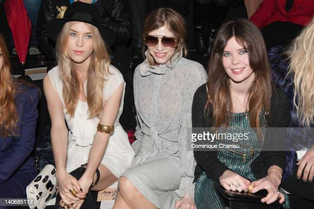 Mary Charteris Elena Lebedev and Lou Lesage attend the John Galliano ReadyToWear Fall/Winter 2012 show as part of Paris Fashion Week at Espace...