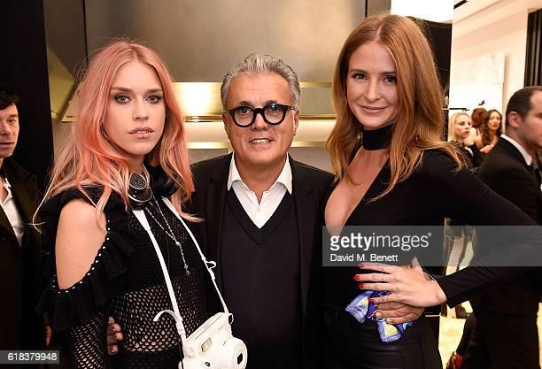 Mary Charteris Giuseppe Zanotti and Millie Mackintosh attend the Giuseppe Zanotti London flagship store launch on October 26 2016 in London England