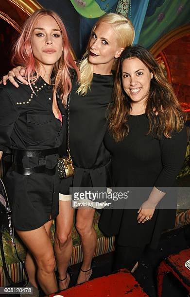 Mary Charteris Poppy Delevingne and Mary Katrantzou attend the LOVE Magazine and Marc Jacobs LFW Party to celebrate LOVE 165 collector's issue of...