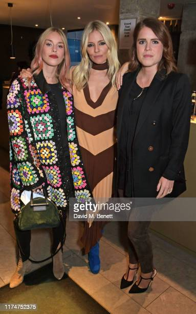 """Mary Charteris, Sienna Miller and Princess Eugenie of York attend a special screening of """"American Woman"""" at The Curzon Bloomsbury on October 9, 2019..."""