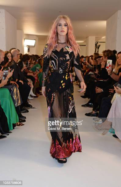 Mary Charteris walks the runway at the Temperley London SS19 fashion show on September 15 2018 in London England
