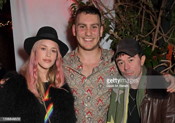 Mary Charteris whynow Founder Gabriel Jagger and Robbie Furze attend the launch of new positive media platform 'whynow' at Petersham Nurseries on...