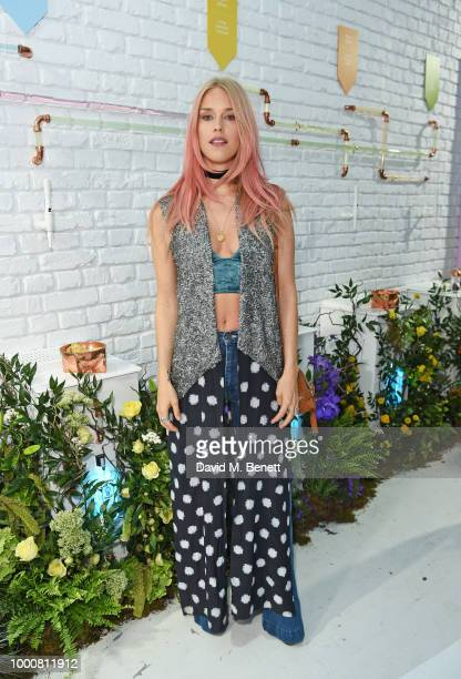 Mary Chateris attends the launch of Bombay Sapphire's 'Canvas' a destination designed to stir creativity and inspire creative selfexpression in...
