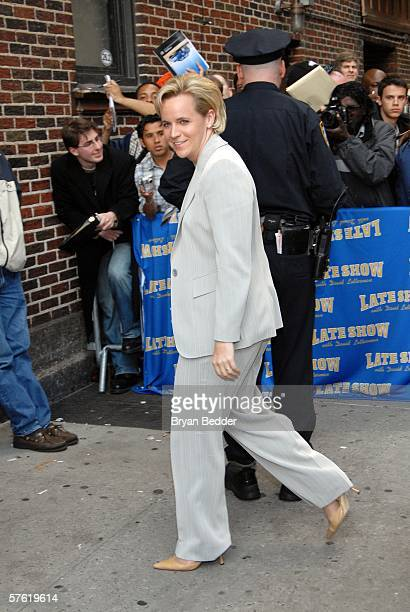 Mary Cheney daughter of Vice President Dick Cheney arrives at the Ed Sullivan Theater for a taping of the Late Show with David Letterman May 15 2006...