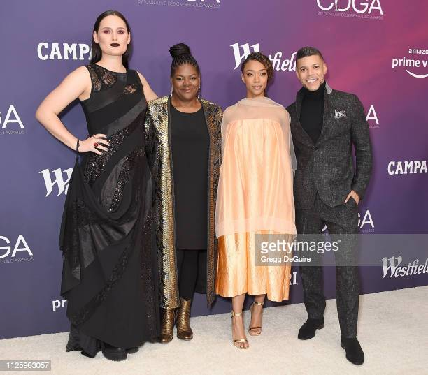 Mary Chieffo Gersha Phillips Sonequa MartinGreen and Wilson Cruz arrive at the 21st CDGA at The Beverly Hilton Hotel on February 19 2019 in Beverly...