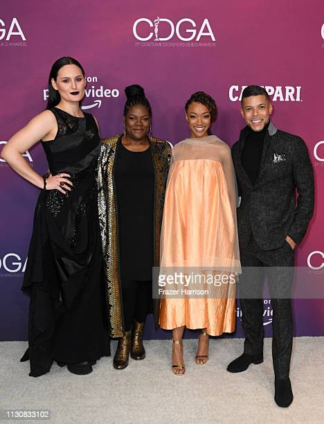 Mary Chieffo Gersha Phillips Sonequa MartinGreen and Wilson Cruz attend The 21st CDGA at The Beverly Hilton Hotel on February 19 2019 in Beverly...