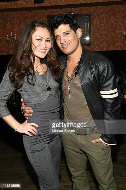Mary ChristinaBrown and Antonio Rufino during Kushcush by Kerry Cushman Spring 07 Fashion Show After Party at Les Deux in Hollywood California United...