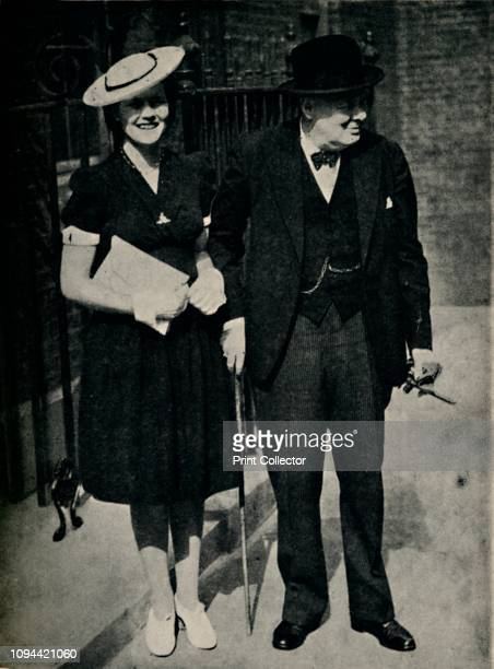 Mary Churchill and Her Father' circa 1945 British politician and statesman Sir Winston Churchill with his youngest daughter Mary Churchill was Prime...
