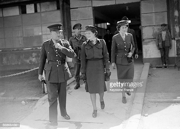 Mary Churchill commandant ATS photographiée lors de son arrivée au Bourget France le 17 mai 1945