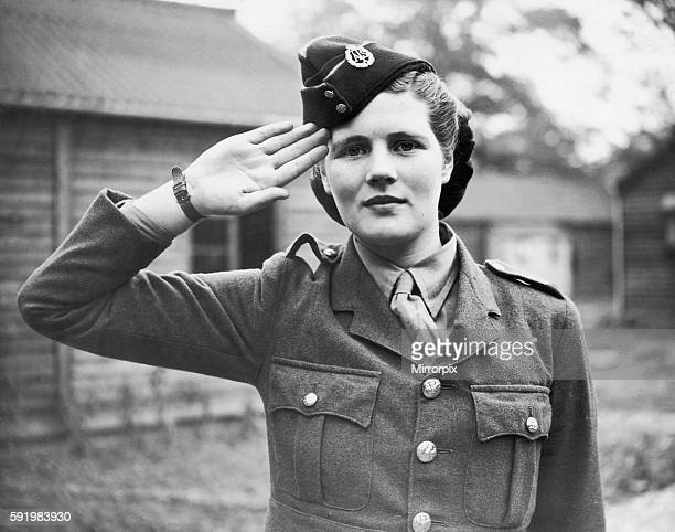 Mary Churchill daughter of Prime Minister Winston Churchill seen here on parade in the ATS 28th September 1941