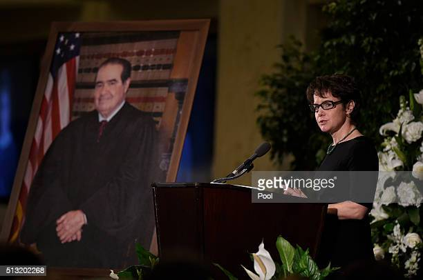 Mary Clare Murray daughter of Supreme Court Justice Antonin Scalia speaks at the memorial service for her father at the Mayflower Hotel March 1 2016...