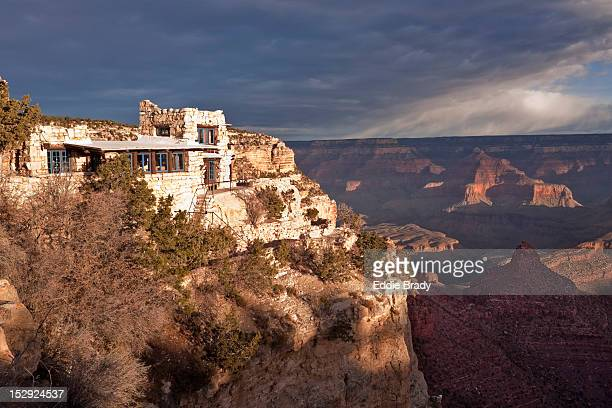 Mary Colter's Lookout Studio on south rim of Grand Canyon.