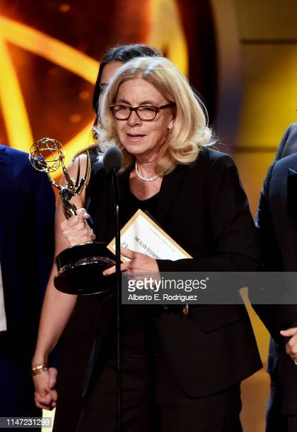 Mary Connelly accepts the Outstanding Entertainment Talk Show award for 'The Ellen DeGeneres Show' onstage at the 46th annual Daytime Emmy Awards at...