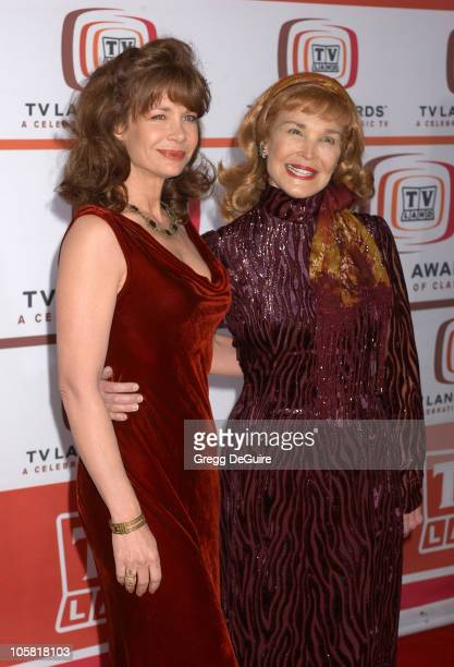 Mary Crosby and guest during 4th Annual TV Land Awards Arrivals at Barker Hangar in Santa Monica California United States