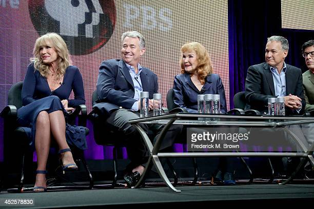 Mary Crosby Nathaniel Crosby Kathryn Crosby and Harry Crosby speak onstage during the AMERICAN MASTERS Bing Crosby Rediscovered panel during the PBS...