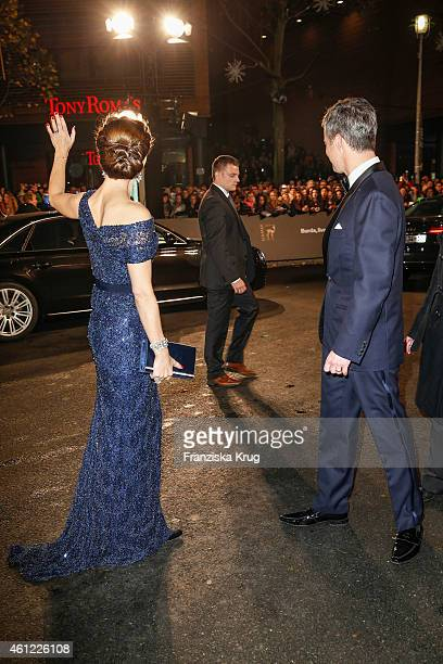 Mary Crown Princess of Denmark and Frederik Crown Prince of Denmark arrive at the Bambi Awards 2014 on November 13 2014 in Berlin Germany