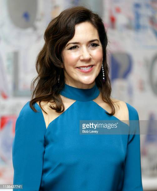 Mary, Crown Princess of Denmark arrives for a Gala Dinner at the Museum of Fine Arts on March 12, 2019 in Houston, Texas.