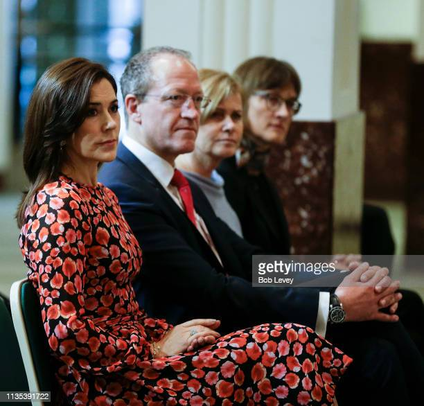 Mary Crown Princess of Denmark during her visit on March 12 2019 in Houston Texas