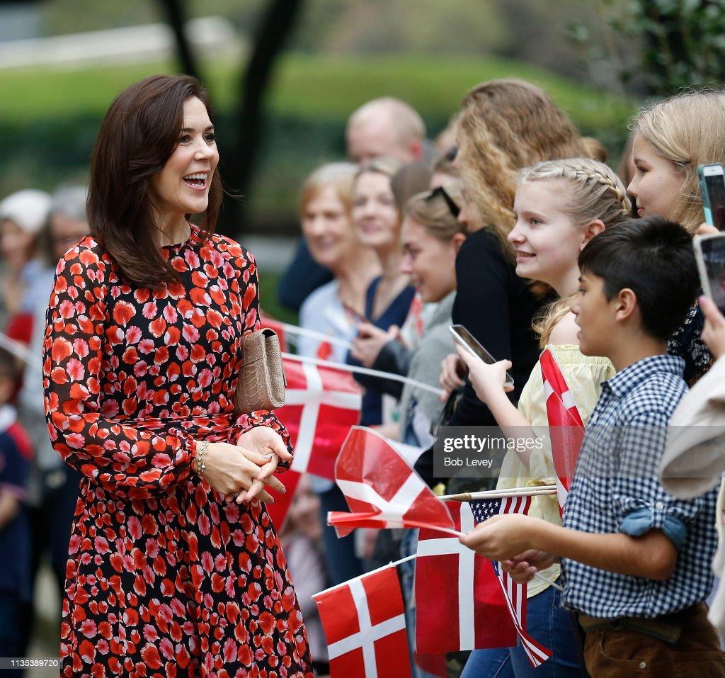 HRH The Crown Princess of Denmark Visits Austin & Houston, Texas : News Photo