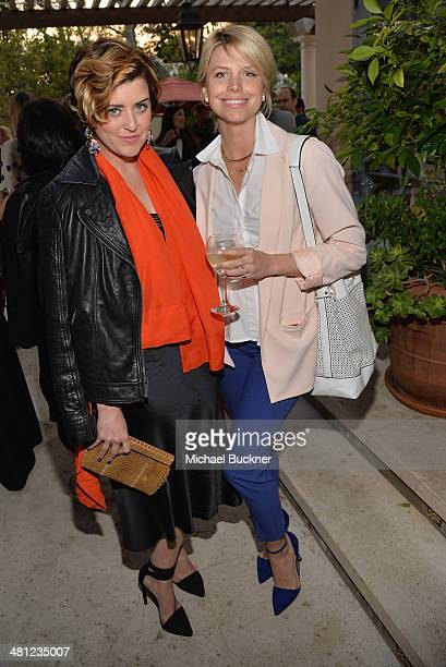 Mary Darling and Leah Ashley attend a reception to celebrate Rashida Jones' New Glamour Column hosted by Cindi Leive and Jane Buckingham at arivate...