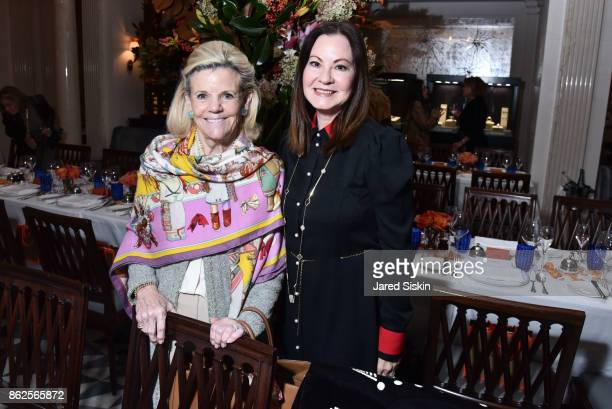 Mary Davidson and Judith Giuliani attend QUEST VHERNIER Host Luncheon at MAJORELLE at Majorelle on October 17 2017 in New York City