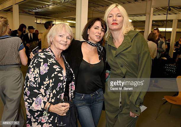 Mary Davidson Sadie Frost and Sara Stockbridge backstage at the Vivienne Westwood Red Label show during London Fashion Week SS16 at Ambika P3 on...