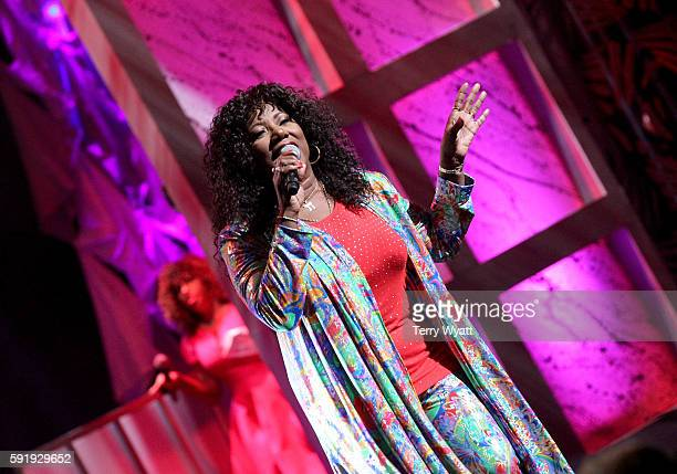 Mary Davis of the SOS Band performs during the NMAAM 2016 Black Music Honors on August 18 2016 in Nashville Tennessee