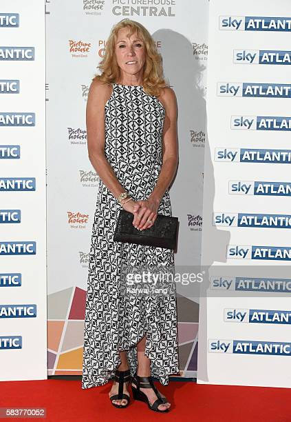 Mary Decker arrives for the premiere of Sky Atlantic's original documentary feature 'The Fall' at Picturehouse Central on July 27 2016 in London...