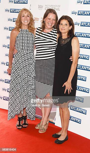 Mary Decker Karen Emlsey and Zola Budd attend the premiere of the Sky Atlantic original documentary feature 'The Fall' at Picturehouse Central on...